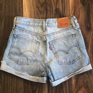 Vintage Levi jean shorts from Free People